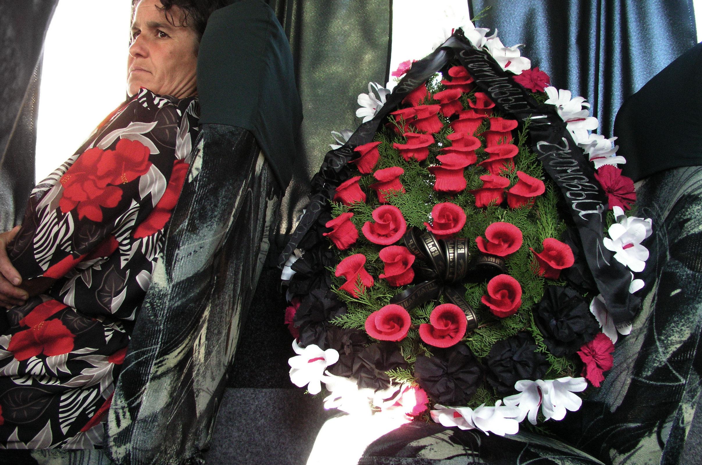 Blumen im Bus
